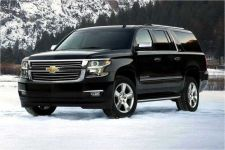 4WD, 4 ton Suburbans traverse the Northeast Ohio roads and weather safely and in style!